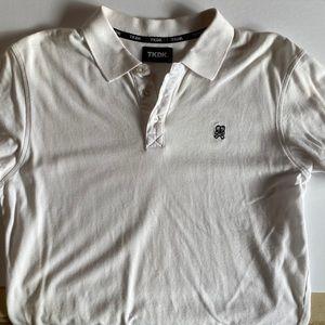 TOKIDOKI White Collar Polo Shirt with Skull Logo